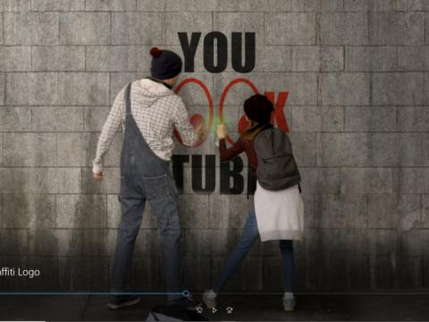 Graffiti youlooktube Logo